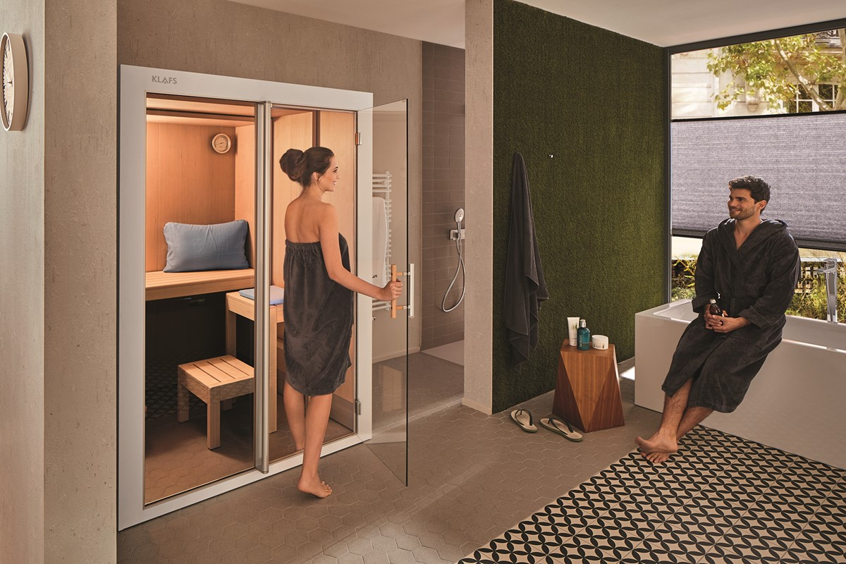 Ein perfektes Ensemble Die Sauna im Badezimmer — wellnissimo